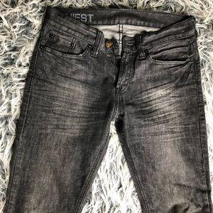 Black bullhead denim jeans